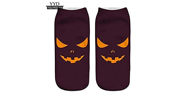 Amazon.com: 3D Halloween Pumpkin Printing Medium Socks Women calcetines mujer (ship from US): Toys & Games