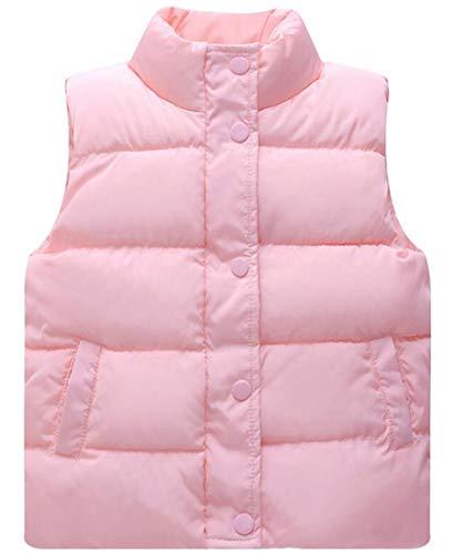 Capturelove Big Girls Standing Collar Puffer Vests Waistcoat - 10 -