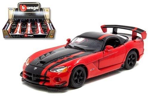 Orange Dodge Model - New 1:24 DISPLAY Bburago - ORANGE DODGE VIPER SRT10 ACR Diecast Model Car By BBurago