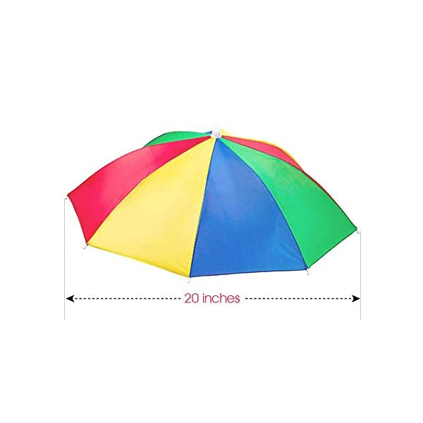 ArtCreativity-Umbrella-Hats-Pack-of-3-20-Inch-Hands-Free-Rainbow-Portable-Shade-for-Beach-Pool-Fishing-Beach-Party-Favors-and-Novelty-Gift-Adjustable-Size-Fits-All-Ages-Kids-Men-and-Woman
