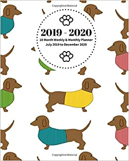 Calendar, December 2017 Through December 2020 2019   2020 | 18 Month Weekly & Monthly Planner July 2019 to
