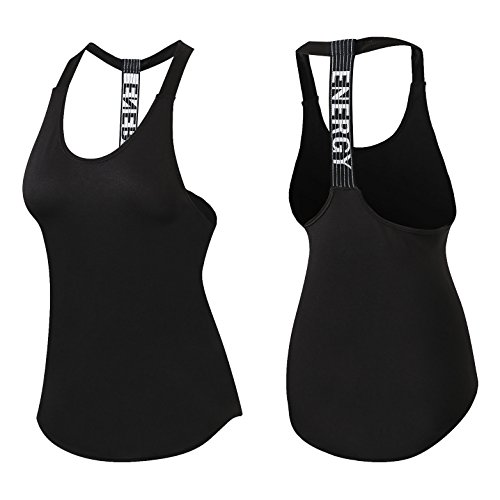 SILKWORLD Women's 2 Pack Compression Base Layer Tank Top Dry Fit Sports Runing Vest,2 Pack,black,US M / Tag L (Chest:34.5