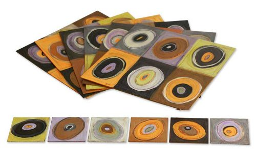 NOVICA Earthtone Wood Vision' (Set for 6) Placemats and Coasters