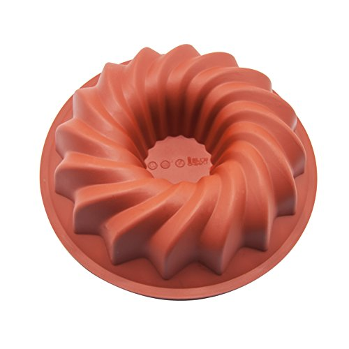 Silicone Spiral Cake Pan Nonstick Baking Pan Homemade Round Cake Mold for Cake, Muffin, Pie, Meatloaf, Bread by Joy House