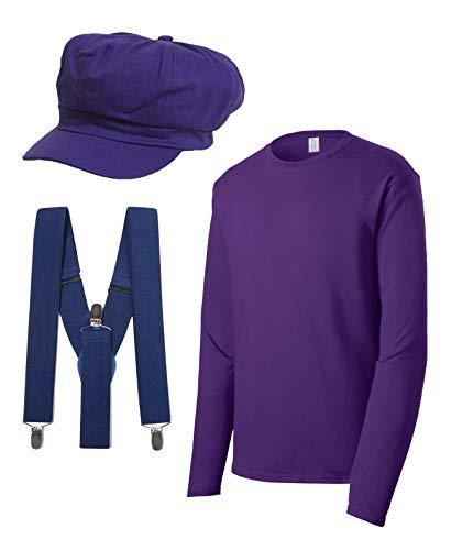 Super Plumber Brothers Friends Costume Kit - Purple - Medium