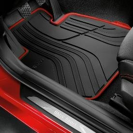 Genuine OEM BMW All-Weather Floor Mats - Sport Line (SET OF 4, INCLUDES 2 FRONT & 2 REAR MATS) - Fits 328i Sedans and 335i Sedans 2012-2013/ 2013 Active Hybrid ()