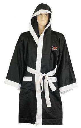 Playwell - Bata de boxeo (seda), color negro: Amazon.es: Deportes y aire libre