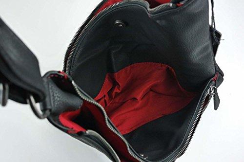 Fritzi aus Preußen Gechina Berlin Black 0001 - Bolso de tela para mujer black-Berlin
