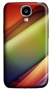 Line Glow Waves Custom Samsung Galaxy I9500/Samsung Galaxy S4 Case Cover Polycarbonate 3D