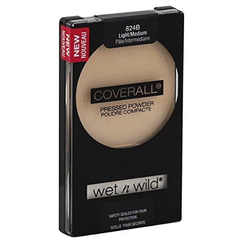 Wnw Coverall 824b Pwdr Lg Size .26oz Wet N Wild Coverall Pressed Powder Light/Medium 824b