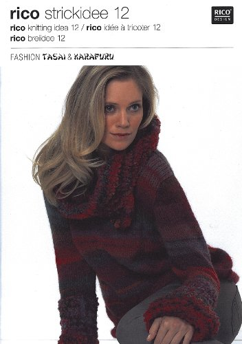 Rico Knitting Idea 12 Pattern Book Fashion Tasai And Karafuru