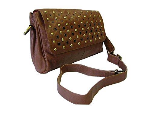 8f6fa2a655ac3 ... Miss Sixty Tasche Damen Ledertasche Schultertasche Roscommon Bag Braun  ...