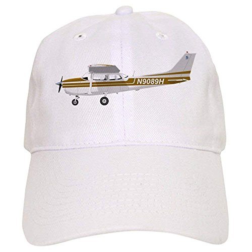 Cessna 172 Skyhawk Brown Cap - Baseball Cap with Adjustable Closure, Unique Printed Baseball Hat