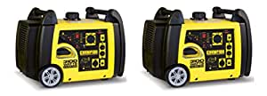 Champion Power Equipment 75537i 3100 Watt RV Ready AhHMeV Portable Inverter Generator with Wireless Remote Start (Pack of 2)