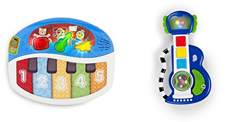 [Baby Einstein Discover and Play Piano Toy & Rock Light and Roll Guitar Playset Toy for Kids, 2 Pack] (Bacon And Egg Halloween Costume)
