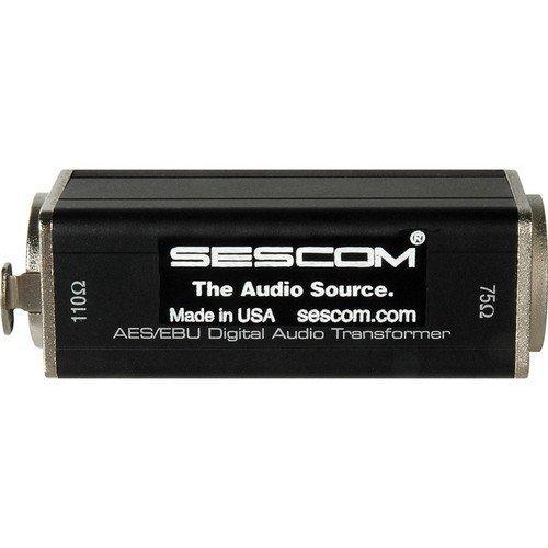 Sescom SES-AES-EBU-1 XLRF to 75 Ohm BNC Female AES/EBU Impedance Transformer, 0.1 to 6MHz Bandwidth Digital Audio Impedance Transformer