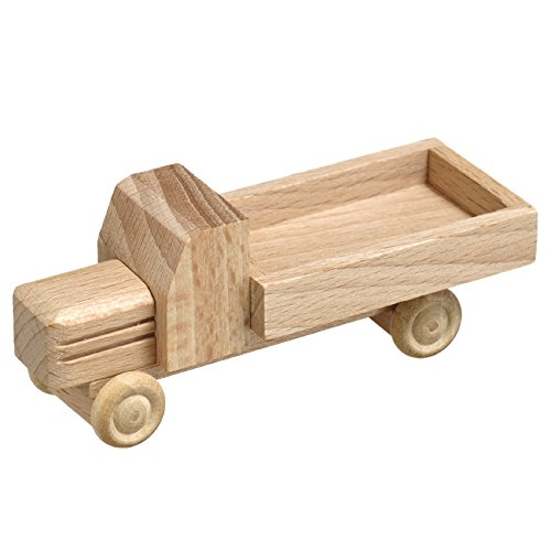 Lorry flatbed unpainted 7.5cm Wood wooden car Ore Mountains NEW (Wood Ore Car)