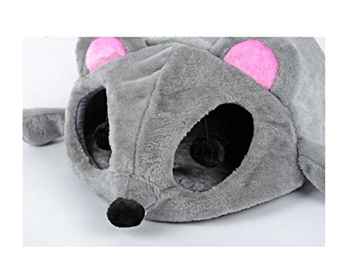 HOT! 2017 Grey Mouse Shape Bed for Small Cats Dogs Cave Bed Removable Cushion,waterproof Bottom Pet House Gift for Pet