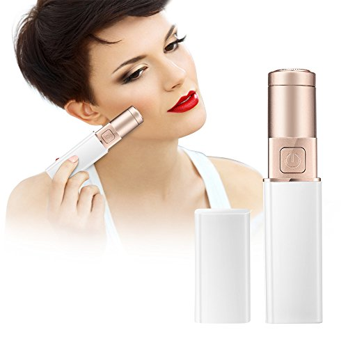 Esonstyle Hair Remover Women Painless Hair Remover On The Upper Lip, Chin, Face, Cheeks,Lipstick Razor, Light Hair Removal (white)