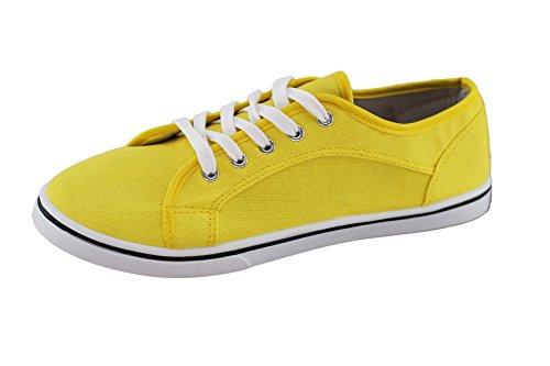 de Zapatillas brandsseller Material Mujer Amarillo Amarillo para Sintético 6q55Zwd