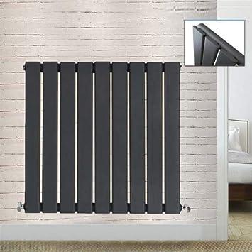Anthracite Horizontal Slim Column Flat Panel Central Heating Designer Radiator
