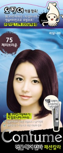 Confume Squid Ink Hair Color 75 - Cherry Brown (No Ammonia)