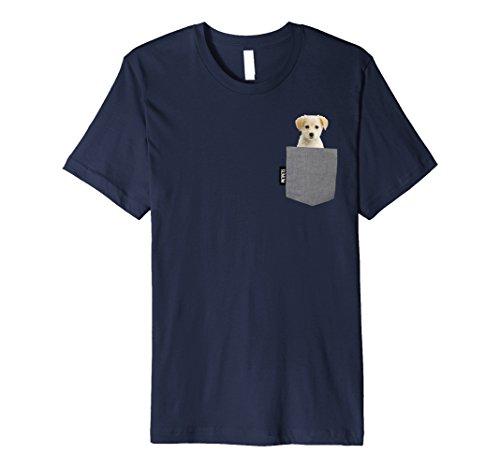 Mens Golden Retriever Pocket Pet Tshirt Large Navy