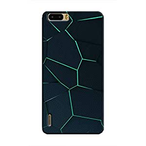 Cover It Up - Cyan Fractures Honor 6 Plus Hard case
