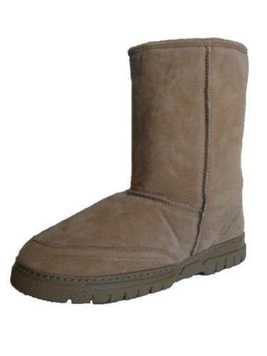 Image of WoolWorks Model 9844 Men's Genuine Australian Shearling Sheepskin/Suede Boots
