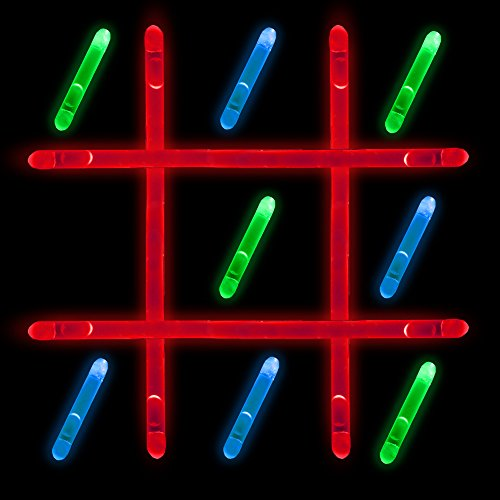 Glow in The Dark - Tic Tac Toe Game - Outdoor Table Game Set for Kids & Family -