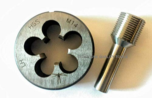 Lighthouse Quality Tools - Threading die M14X1 LH HSS and Thread Alignment Tool (Best Ak Muzzle Brake)