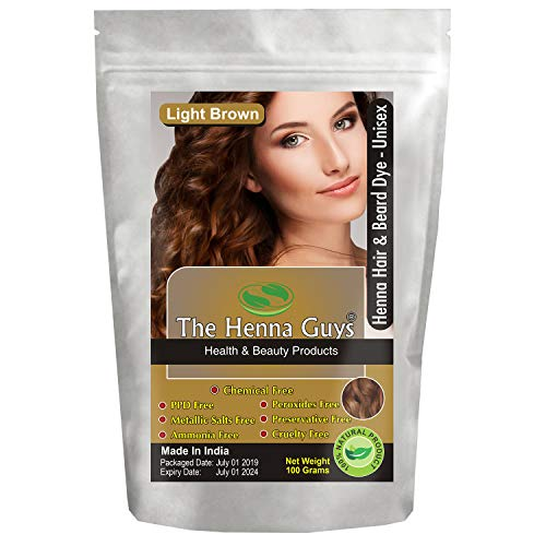 Golden Brown Henna - 1 Pack Light Brown Henna Hair & Beard Dye/Color - The Henna Guys