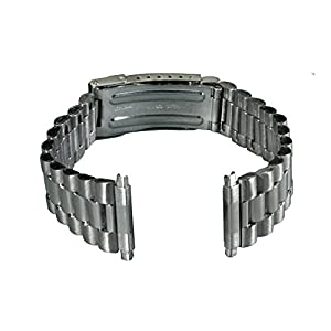 Gilden Unisex President-Style Non-Expansion 18-23mm Stainless Steel Watch Band 1536