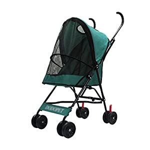 YD Pet Travel Carrier Pet Trolley Multifunctional Folding Four-wheeled Pet Stroller Cat Large Dog Light Cart Pet Scooter… Click on image for further info.