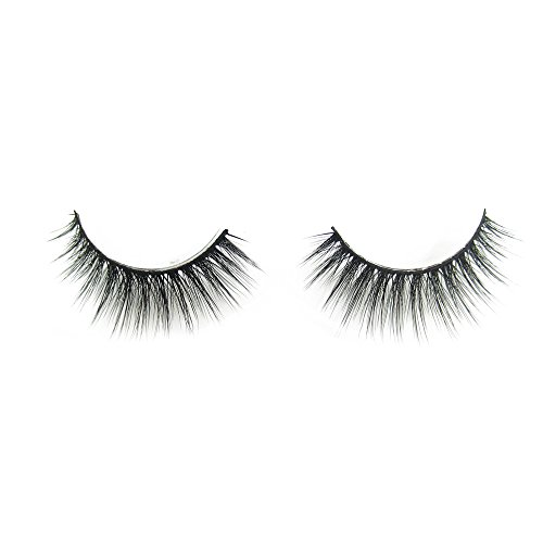 3D Natural False Eyelashes New Handmade Fake Lashes High End Reusable Soft Eyelash Strips For Woman Makeup Cruelty Free(1 Pairs 2 Pieces) (3D-009)