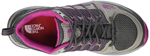 The North Face W Litewave Explore Zapatillas de senderismo, Mujer Gris (Zinc Grey / Fuschia Pink)