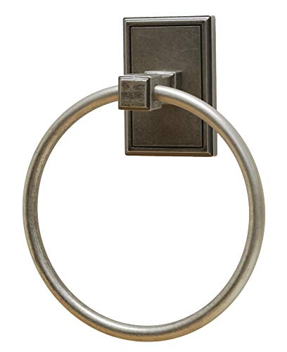 (Residential Essentials 2586 6-3/8 Inch Diameter Towel Ring from The Hamilton Col, Aged)