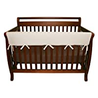 Trend Lab Fleece CribWrap Rail Cover for Long Rail, Natural, Wide for Crib Ra...