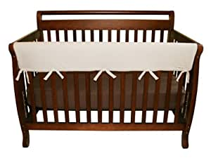 """Trend Lab Fleece CribWrap Rail Cover for Long Rail, Natural, Wide for Crib Rails Measuring up to 18"""" Around!"""