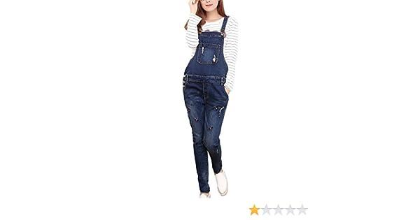 701d8f56b0c6 Amazon.com  Foucome Women Maternity Denim Overalls Adjustable Jumpsuit Fit  Belly Pants  Clothing