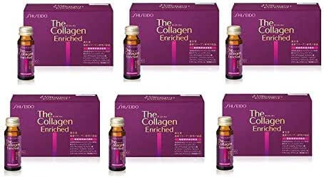 Shiseido The Collagen Enriched drink 10 bottles×6 Set◆Using Expedited Shipping 3~6 Days◆