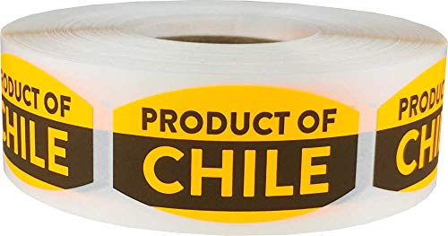 Product of Chile Grocery Store Food Labels .75 x 1.375 Inch 500 Total Adhesive Stickers