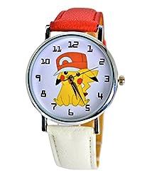 Pokémon Pikachu Quartz Analog Wrist Watch For Men Women Boys Girls Children.Fashion Large Modern Display (PIKACHU HAT)