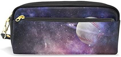 AOMOKI ペンケース 化粧ポーチ 小物入り 多機能 レディース 野球 惑星