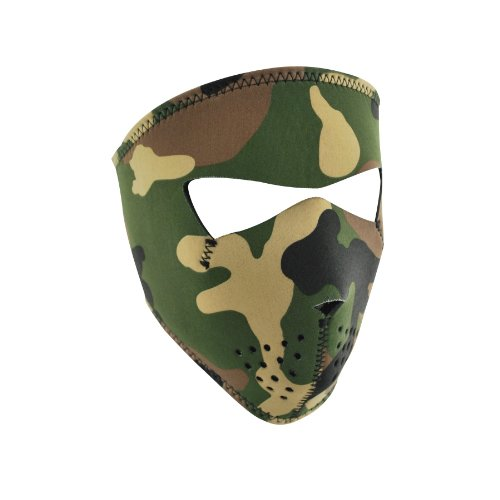 - Zanheadgear WNFMS118 Neoprene Full Face Mask, Small, Woodland Camo