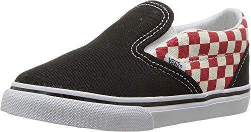 Vans Toddler Checkerboard Slip-On Black/Red VN0A32QJ35U Toddler Size - Vans 6 Toddler
