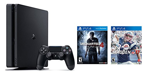 Playstation-4-Slim-2-items-Bundle-PlayStation-4-Slim-500GB-Console-Uncharted-4-Bundle-and-Madden-NFL-17-Standard-Edition-Game-Disc