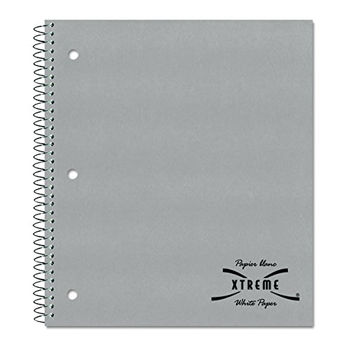 (National Kolor Kraft Cover Notebook, College with Margin, 1-Subject, 11 x  8.875 Inches, 80 Sheets, 3 Assorted Colors, 1 Book per Order, Color May Vary)