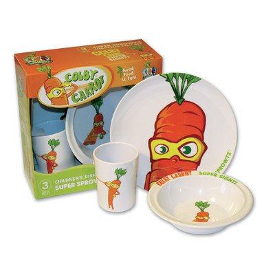 Super Sprowtz 3 Piece Dish Set   Colby Carrot