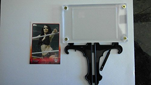 2015 Topps WWE #56 Paige Trading Card in a Protective Case With a Small Stand